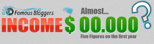 five figures blog income