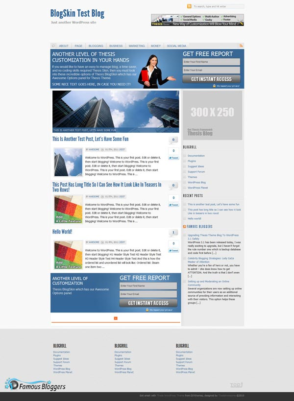 thesis blogging theme This site runs on the thesis wordpress theme related , , , , , , , this post shows you how to customize the robots meta.