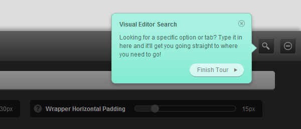 Headway visual editor search