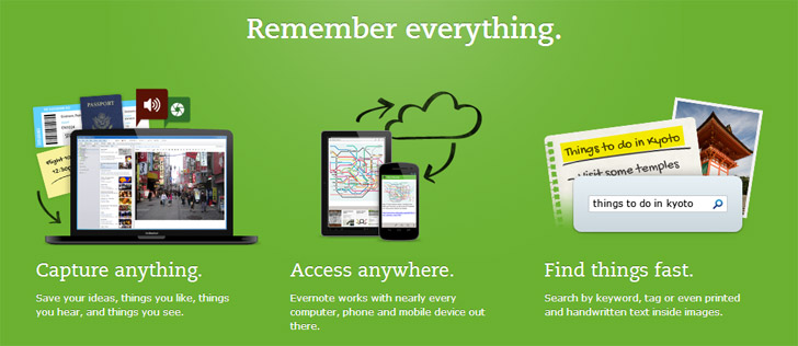 Evernote help you remember everything