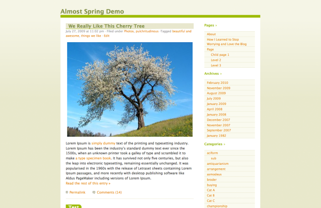 Almost Spring Theme