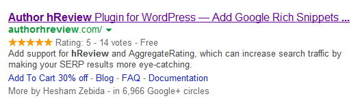 Rich Snippets for root domain