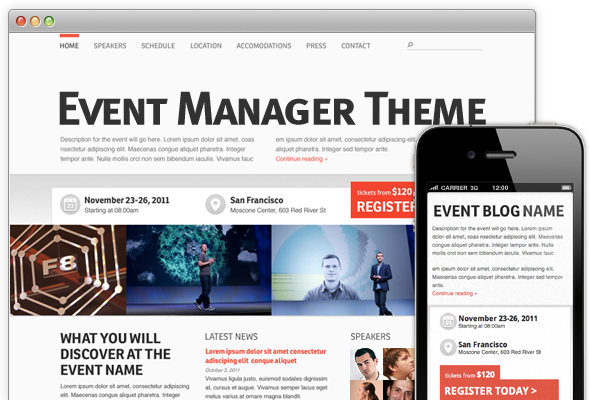 Event theme manager