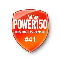 Famous Bloggers rank on Advertising Age Power150