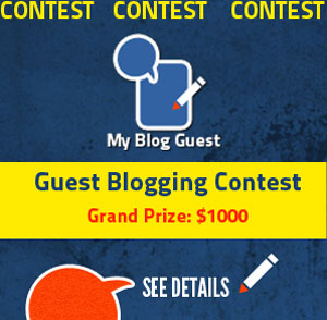Guest Blogging Contest for Publishers: Get Free Content to Win $1000 (MyBlogGuest)