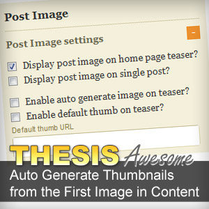 Auto Generate Thumbnails In Thesis Theme