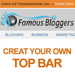Create Hello Bar for Thesis Theme