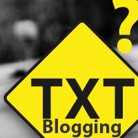 TXT Blogging
